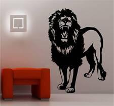 énorme Lion Art mural autocollant vinyle chambre d'ENFANT ANIMAL