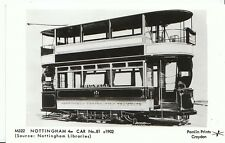 Nottinghamshire Trams Postcard - Nottingham 4W Car No.81 c1902 - A431