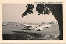 Scene at Quakertown Airport in Quakertown PA Postcard