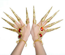 1 Pair Golden Jewelry Belly Dance Dancing Finger Cot Costume Indian