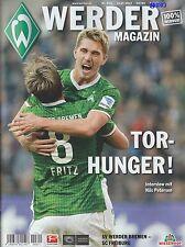 Werder Magazin Bremen + SC Freiburg + 19.10.2013 + Programm + Stadionmagazin +