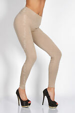 Full Length High Waist Leggings Genuine Cotton and Lycra All Sizes & Color LWP UK Size 10 Beige