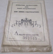Allis Chalmers Operating Instructions Parts Illustrations 500 Series Cultivators
