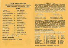 Football Programme>WOLVES RESERVES v NOTTS COUNTY RESERVES Apr 1995