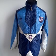 ENGLAND 1990 TRAINING SHELL TRACK TOP UMBRO FOOTBALL SHIRT JERSEY SIZE ADULT L