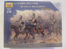 Zvezda 1/72 Russian Dragoons 1812-1814 Stiff Plastic Snap Fit #6811 3 mounted fi