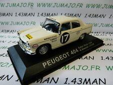 auto 1/43 altaya IXO RALLYE : PEUGEOT 404 safari 1968 #17