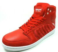 Supra S1W Mens Shoes S72023 Red White Basketball Sneakers Leather High Top Rare