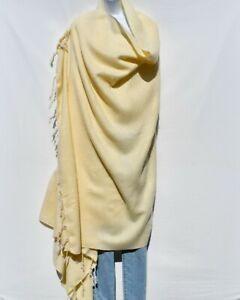 Blanket/Throw | Yak Wool Blend |Nepal |Handmade |Over-Sized | Cream & Ivory