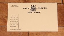 WW1 British Field Service Postcard Reproduction