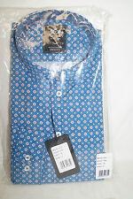 Otto KERN Camicia Manica Lunga 100% Cotone Denim/Blu Rosso Taglia XL 50354/13686