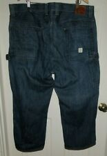 Ralph Lauren men sz 42 x 27 short medium dark blue jeans carpenter relaxed loose
