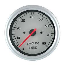 Smiths Telemetrix Tachometer Gauge 80mm 0-8000RPM TET3-5B32-00