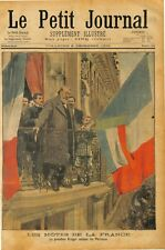 President Paul Kruger at the Hotel Scribe welcoming Parisians in Paris 1900