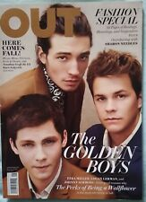 2012 OUT Magazine - Golden Boys Logan Lerman Ezra Miller Johnny Simmons Gay Int.