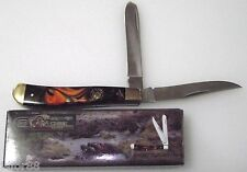 KNIFE FROST BEAVER CREEK, TRAPPER 3 7/8 CLOSED BVR-508APM 2 BLADE, NICE KNIFE