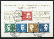 Bundespost Block  2 met speciaal stempel en originele gom