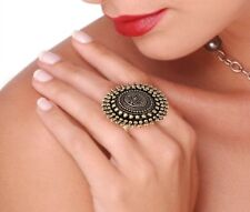 Oxidized Gold Plated Handmade Bollywood Style Adjustable Ring women Best Gift