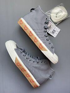 NEW Adidas Nizza Hi Human Made Grey Five - HM FY5187 Men's Canvas Shoes SIZE 7.5