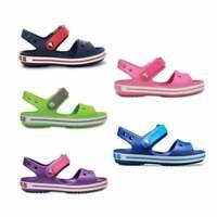 Crocs CROCBAND SANDAL KIDS Unisex Boys Girls Touch Fasten Summer Beach Sandals