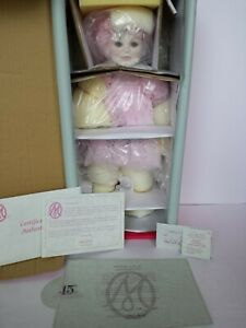 "NEW AND NRFB COA #762 MARIE OSMOND CRYSTALLINE PORCELAIN DOLL 18"" STANDING"