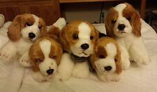 LOT of 5 Yomiko Classics & Fuzzy Town BEAGLES...soft, adorable plush...all NEW!