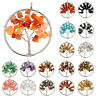 7 Chakra Healing Natural Stone Quartz Tree of Life Crystal Necklace Pendants New