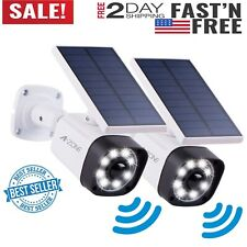 Solar Motion Sensor Light Outdoor -800Lumens 8 Led Spotlight 5-Watt Solar Lights