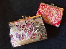 2 Japanese Kimono Fabric Clasp Coin Purses/ Wallets