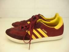 Adidas Mens 9 M Samba Indoor Soccer Shoes Cardinal Red Gold G96479 Suede Leather