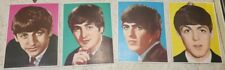 4 Old vintage The Beatles Big Size Picture Cards From England 1966.