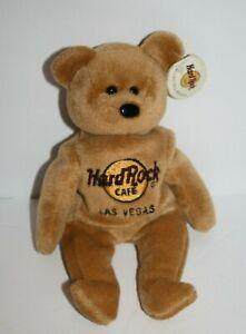 HARD ROCK CAFE Las VEGAS Plush Bear ISAAC BEARA Stuffed Animal Soft Toy BEAN BAG