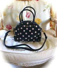 Kate Spade New York Small Pearl Cedar Street Dot Bag! Patent Black & Beige 💕