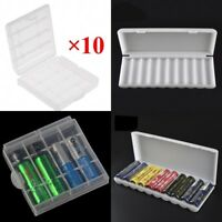 10PCS 18650 Battery Storage Case Box Organizer Holder for AA AAA 18650 Batteries