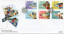 Jersey 2017 FDC Lions Club International 100th 6v Cover Swimming Trees Stamps