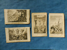 LOT 4 IMAGE PIEUSE  JESUS MORT ASCENSION TEMPETE JERUSALEM  GRAVURE ESTAMPE