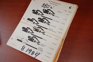 CASE 880C Excavator Trackhoe Crawler Parts Book Manual list catalog 1984 owner