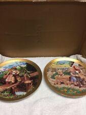 Set Of Two Danbury Mint Hummel Century Plates