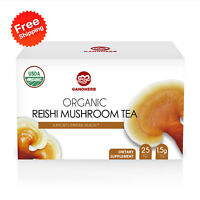 GANOHERB Organic Ganoderma Lucidum Lingzhi Reishi Mushroom Tea Bags