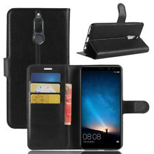 BLACK Premium Wallet Leather Case Cover For Huawei Nova 2i / G10