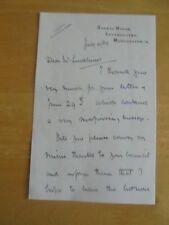 1938 SIR MILES EWART MITCHELL CITY OF MANCHESTER  AUTOGRAPH LETTER