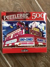 🧩 NEW Puzzle- 500 Piece Colorful Carnival Concession Sealed Cra-Z-Art Puzzlebug