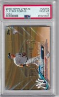 Gleyber Torres 2018 Topps Update Rookie Debut US191 Gold parallel /2018 PSA 10