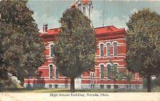 E34/ Nevada Ohio Postcard 1910 High School Building