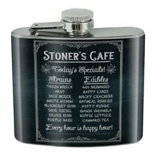 New listing Stoner's Marijuana Cafe Today's Specials Stainless Steel 5oz Hip Drink Flask