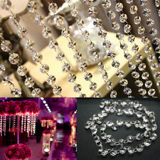 New Acrylic Crystal Clear Bead Garland Hanging Chandelier Decor Wedding Supplies