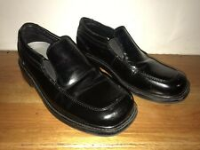 Boys Youth Deer Stags Black Dress Shoes (Size 4)