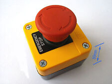 2pcs Red Sign Emergency Stop Push Button 660v Switch