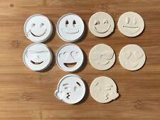 5pcs Plastic Emoji Biscuit Cookie Cutter Fondant Cake Decorating Mold 6Cm ~