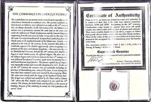 Cambodia 19TH Century COIN with Album,Story and Certificate